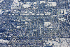 Minneapolis. Looking down on Minneapolis in winter Royalty Free Stock Photos