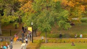 Minneapolis, manganeso, los E.E.U.U. - octubre de 2015 - posibilidad muy remota del timelapse de la universidad de los estudiante