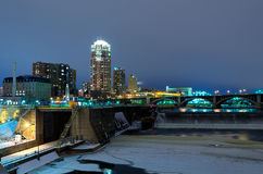 Minneapolis Minnesota at Night Royalty Free Stock Image