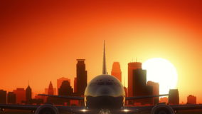 Minneapolis Minnestoa usa Ameryka linii horyzontu wschód słońca Zdejmował ilustracji