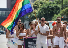 Minneapolis, Mn, LGBT Pride Parade 2013 royalty-vrije stock foto