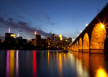 Minneapolis at night royalty free stock image
