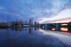 Minneapolis at night Stock Photo