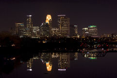 Minneapolis Night Skyline Royalty Free Stock Photos