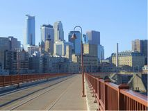 Minneapolis pejzaż miejski zdjęcia royalty free
