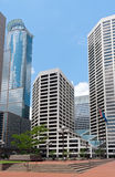 Minneapolis Plaza and Skyscrapers Royalty Free Stock Photography