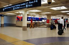 The Minneapolis-Saint Paul International Airport (MSP). Minneapolis, MN -The Minneapolis-Saint Paul International Airport (MSP) includes two terminals, Lindbergh Stock Photo