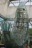 Minneapolis skulpturträdgård: stående glass fisk Arkivbild