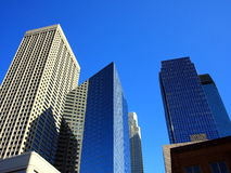 Minneapolis skyline. Modern buildings in downtown Minneapolis, view from Hennepin Avenue Royalty Free Stock Photo