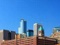 Minneapolis skyline. Parking ramp in downtown Minneapolis Stock Image