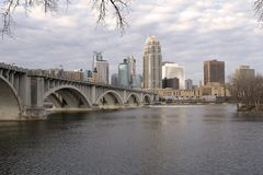 Minneapolis Skyline Downtown Royalty Free Stock Photos