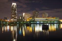 Minneapolis Skyline at Night Stock Photo