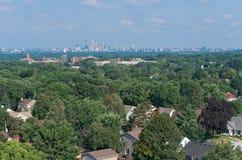 Minneapolis-Skyline von Highland Park Lizenzfreie Stockfotos