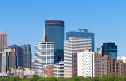Minneapolis Skyline from Walker Art Center Royalty Free Stock Images