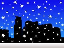 minneapolis skyline zimy. Obraz Royalty Free