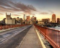 Minneapolis am Sonnenaufgang Lizenzfreies Stockbild