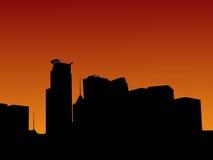 Minneapolis am Sonnenuntergang Stockbilder