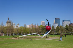 Minneapolis Spoonbridge und Kirsche Lizenzfreie Stockbilder