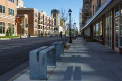 Minneapolis-Straßenansicht am Nachmittag Lizenzfreie Stockfotos