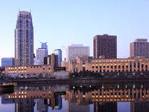 Minneapolis at sunrise Royalty Free Stock Image