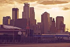 Minneapolis Ultraviolet Royalty Free Stock Photos