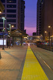 Minneapollis Light Rail at Night Stock Photo