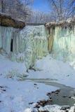 Minnehaha Fälle und Nebenfluss, Winter Stockbild