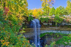 Minnehaha falls, autumn Stock Image