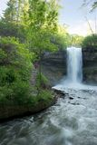 Minnehaha Falls in the evening Stock Photo