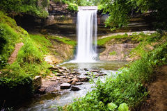 Minnehaha Falls located in Minneapolis Minnesota Royalty Free Stock Images