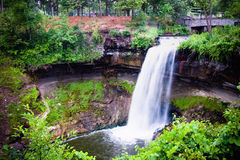 Minnehaha Falls located in Minneapolis Minnesota Royalty Free Stock Images
