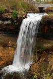 Minnehaha Falls, Minnesota. Minnehaha Falls cascades into the lower basin near downtown Minneapolis, Minnesota stock images