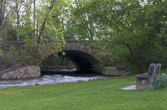 Minnehaha Park Creek and Bridge Royalty Free Stock Photos