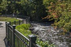 Minnehaha vattenfall i Minneapolis Arkivbild