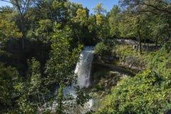 Minnehaha vattenfall i Minneapolis Royaltyfria Bilder