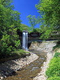 Minnehaha waterfall at spring in Minneapolis Royalty Free Stock Photo