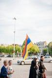100. minnemarsch för armeniskt folkmord i Frankrike Royaltyfri Fotografi