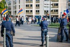 100. minnemarsch för armeniskt folkmord i Frankrike Arkivbilder
