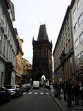 Minnen av loppet - pulvertorn, Prague royaltyfria foton