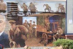 Minnen av världskrig 1, Chemainus, F. KR. väggmålningar Fotografering för Bildbyråer