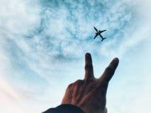 Minnen flygplan, flygplan arkivfoto