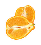 Minneola Sliced on White Royalty Free Stock Image
