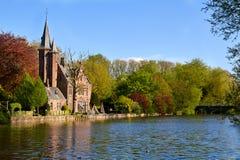 Minnerwater park. Bruges, Belgium. In early spring stock image