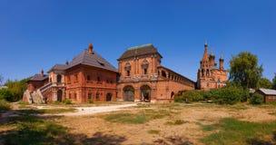 Minnes- arkitektonisk helhet av den ryska ortodoxa kyrkan Arkivbilder