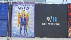 Minnes- baner till ny brandkämpar som dödas på Sept 11 arkivfilmer