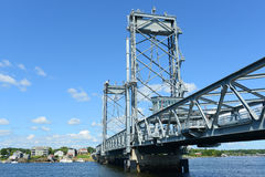 Minnes- bro, Portsmouth, New Hampshire royaltyfri bild