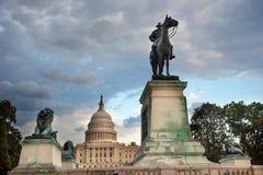 Capitol Hill Washington för anslags- staty för US minnes- DC Arkivbild