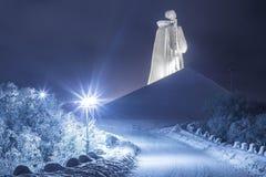 Minnes- försvarare av den sovjetiska Zapolyaen royaltyfria foton