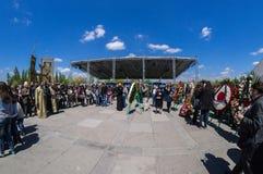 Minnes- komplex 24 April 2015 Armenien, Yerevan för armeniskt folkmord Arkivbild