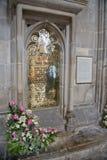 Minnes- mässingshängivet till Jane Austen, engelsk romanförfattare Royaltyfri Foto